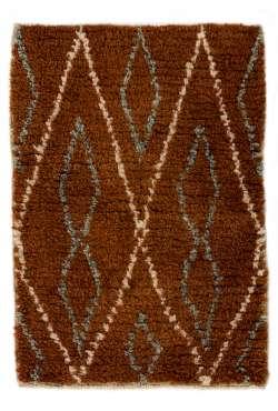 Brown, Beige & Gray Natural wool colors, MOROCCAN Berber Beni Ourain Design Rug, HANDMADE, 100% Wool