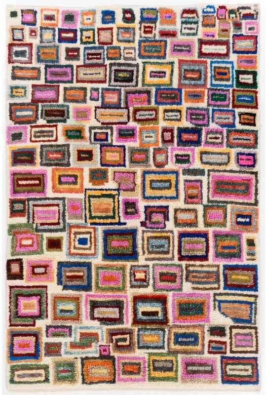 Multicolor Turkish Tulu Rug, HANDMADE, 100% Wool