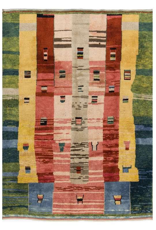 Multicolor Turkish Tulu Rug, Pastel Faded Colors, Tulu Rug HANDMADE, 100% Wool
