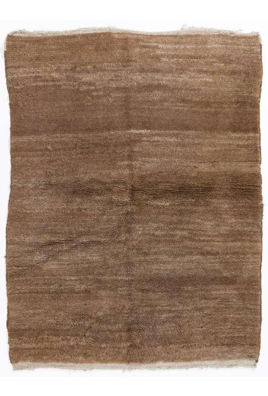 Tan colored Turkish Tulu Shag Pile Design Rug, HANDMADE, 100% Wool