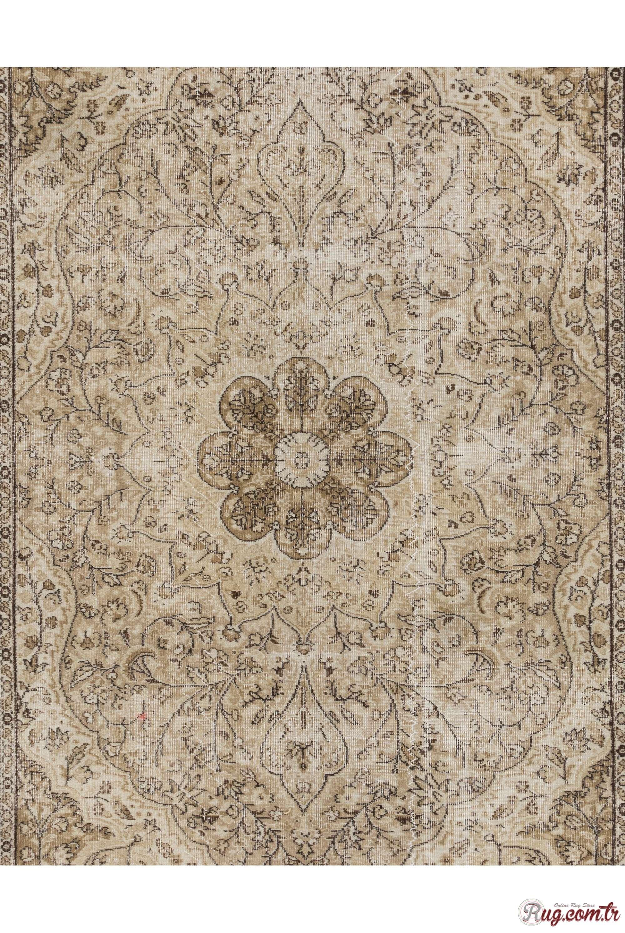 299e773f3 Brown & Beige Turkish Rug, 6'8