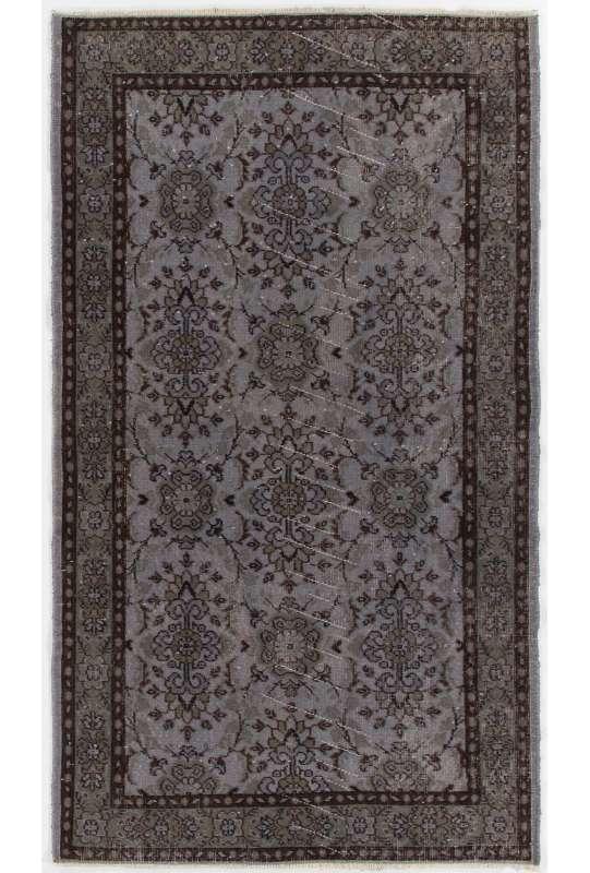 Vintage Overdyed Handmade Turkish Rug