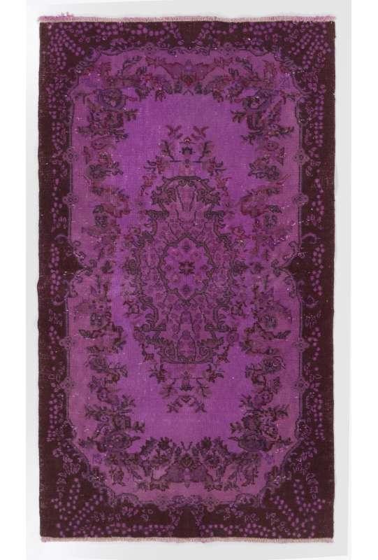 4' x 7' (121x213 cm) Purple OVERDYED Vintage Turkish Rug