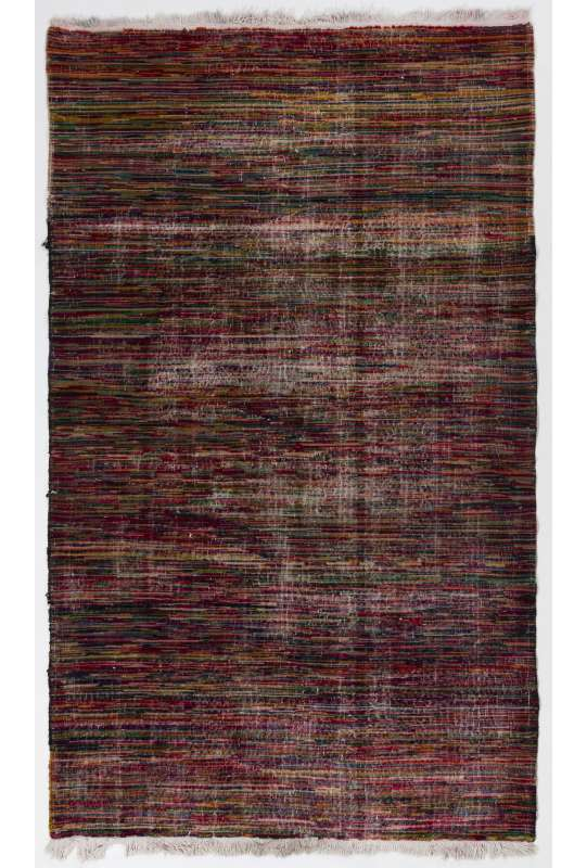150x250 cm Turkish Vintage Village Rug, Multicolor