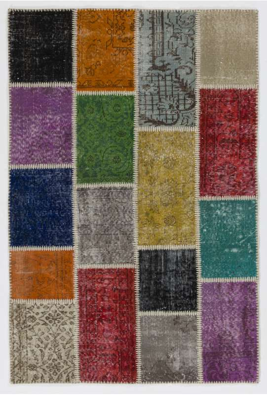 4'x6' Multicolor PATCHWORK Rug