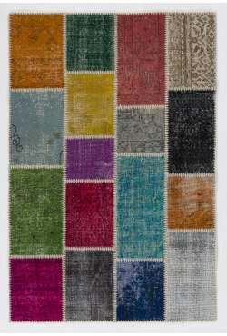 4' x 6' (122x183 cm) Multicolor PATCHWORK Rug