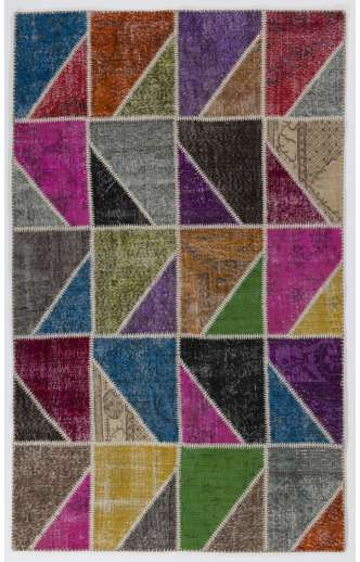 5' x 8'  MultiColor Patchwork Rug
