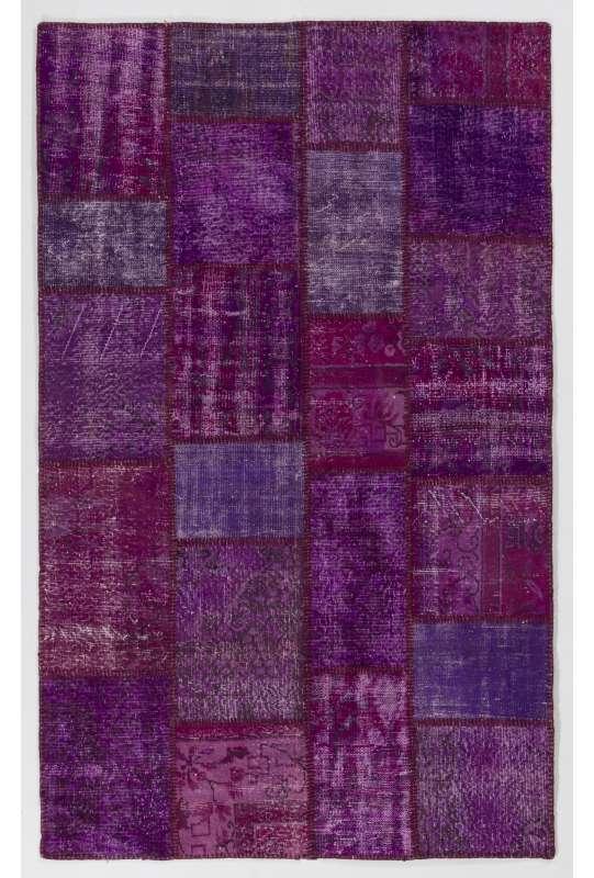 152x245 cm Purple Lavender Lilac Orchid Color Patchwork Rug