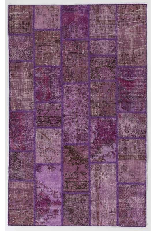 152x245 cm Shades of Purple Lavender Lilac Orchid Colors Patchwork Rug