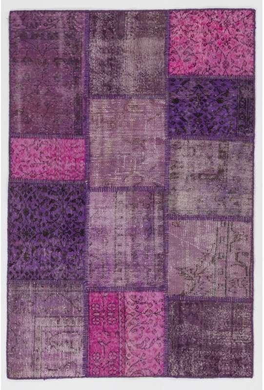 4' x 6' (122x183 cm) Purple Lavender Lilac Orchid Color Patchwork Rug