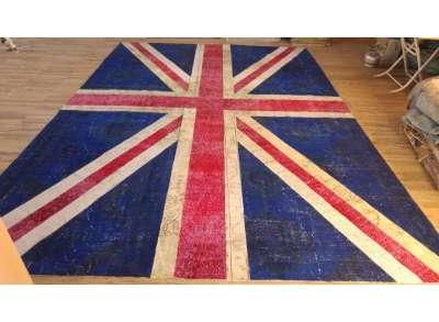 10 x 15 Feet  Union Jack Flag Design Patchwork Rug