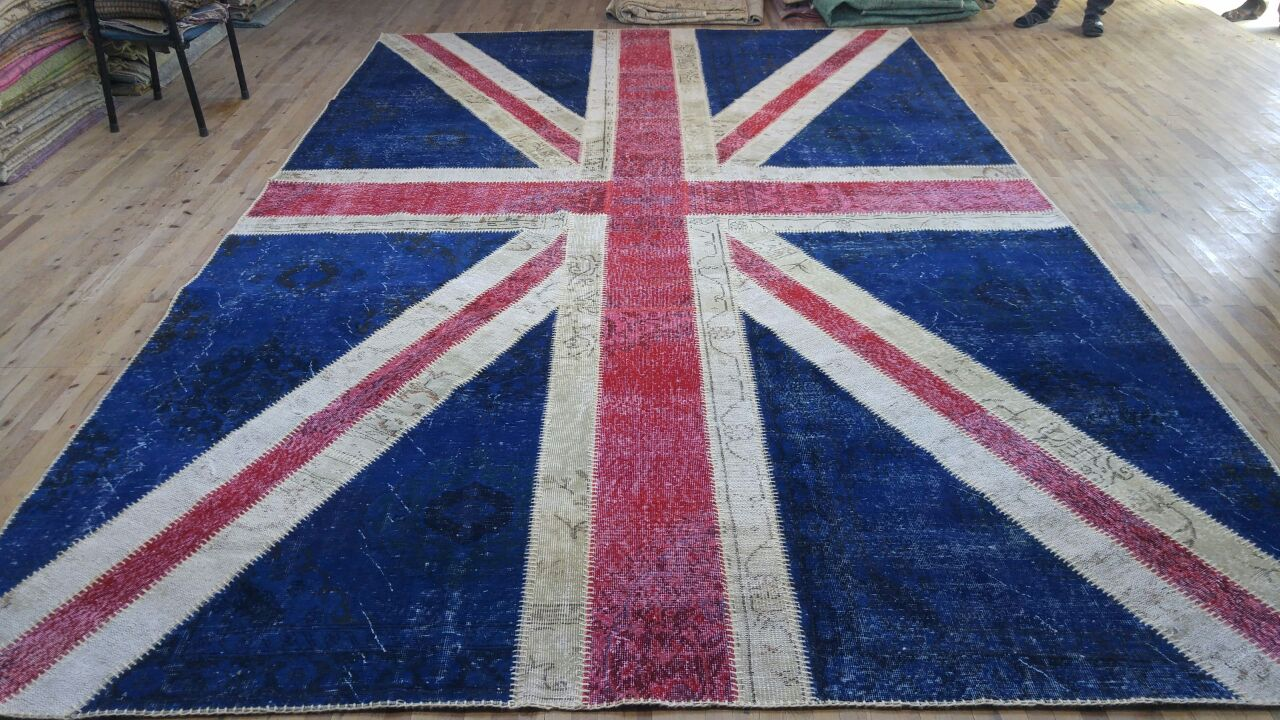 Union Jack Rug stitched and ready
